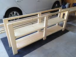 Rustic Tv Console Table Unfinished Custom Diy Rustic Pine Wood Console Table With Storage