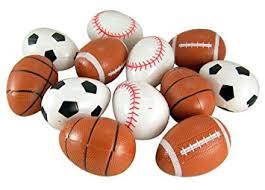 sports easter eggs pack of 16 football baseball soccer basketball shape