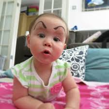 Eyebrow Meme - funniest new meme babies with eyebrows drawn on komando com