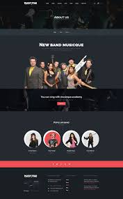 musicque music band event psd template by milotheme themeforest