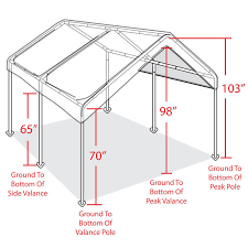 Home Depot Carport Decorating Double Carport Canopy With White Metal Frame For