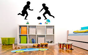 are you ready for some football tackling a locker room makeover children playing football graphic childs bedroomplay room wall art vinyl stickers decal halloween home decor