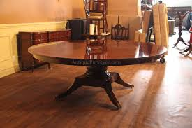 Solid Mahogany Dining Table Custom American Made Classic 84 Inch Round Dining Table