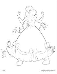 free printable cinderella coloring pages earlymoments