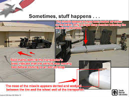 minot monster truck show experts say photo may show nuclear capable missile that fell off