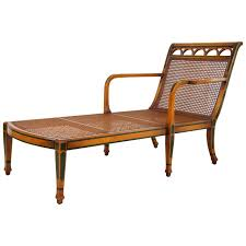 Leopard Chaise Lounge 1940 U0027s Decorated Satinwood And Caned Chaise Lounge For Sale At 1stdibs