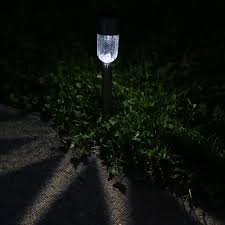 sunnydaze outdoor solar garden path led lights for landscape