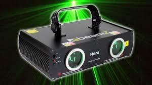 sound activated dj lights beamz hera bright green dj laser light disco party sound activated