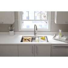 Kitchen Sink With Faucet Set Kitchen Kohler Undermount Stainless Steel Double Sink Kohler