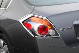 Nissan Altima Chrome Tail Light Bezels 2007 2008 2009 2010 2011