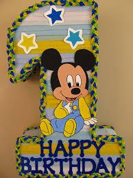 baby mickey 1st birthday baby mickey 1st birthday 1 shape pinata