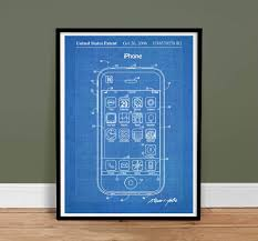 What Size Paper Are Blueprints Printed On Amazon Com Iphone Invention Poster 2006 Patent Art Handmade