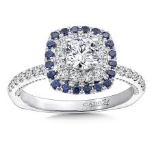sapphire halo engagement rings caro74 and blue sapphire halo engagement ring mounting