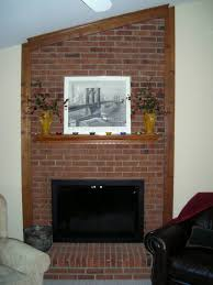 diy brick fireplace remodel u2014 office and bedroom
