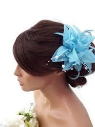 hair corsage light chiffon flower hair clip fascinator corsage