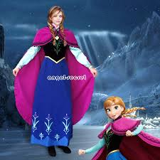 Frozen Costume J787 Movies Frozen Princess Anna Cosplay Costume Deluxe