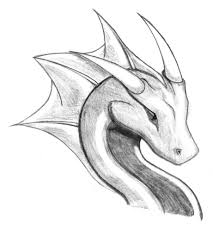 easy drawing dragons easy draw dragon head pencil sketch