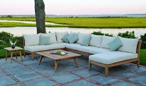 canape teck design exterieur meubles jardin canapé teck table basse le bon