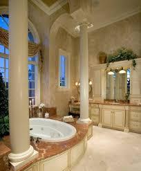 sater design bathroom mediterranean with beige cabinets