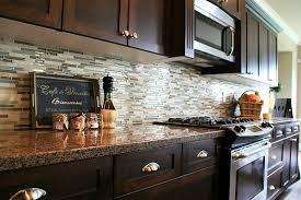 backsplash tiles for dark cabinets popular kitchen backsplash glass tile dark cabinets tile backsplash