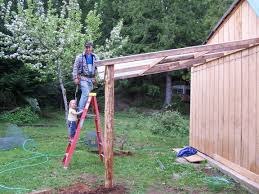 how to build a strong and sturdy lean to roof wood planks woods