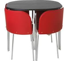 Buy Hygena Amparo Black Dining Table   Chairs Red At Argosco - Red dining room chairs