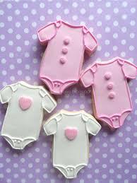 my pink little cake baby onesie baby shower cookies