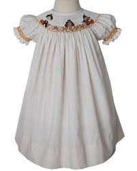 thanksgiving bishop dress with smocked pilgrims turkey and india