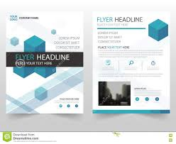 blue square business brochure leaflet flyer annual report template