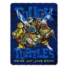 throw by the mutant turtles tough turtle blues fleece throw