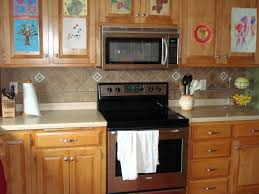 big tile backsplash kitchen accent tile cost how big kitchen