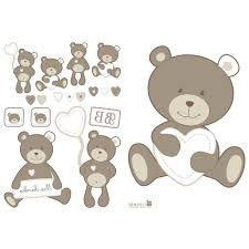 stickers nounours chambre bébé sticker ourson chambre bebe helvia co