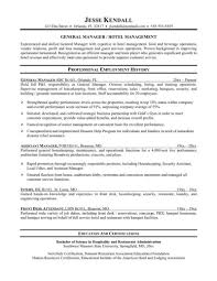 Sample Management Resumes by Sample Resume Hotel Restaurant Management Graduate Templates