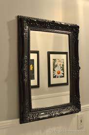 mirror frame decorating ideas spray painted gold yard sale mirror how to spray paint a mirror