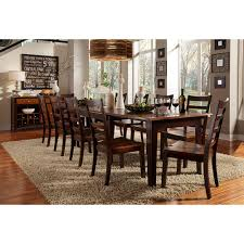 bristol point wood extension table in oak espresso humble abode