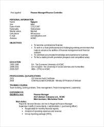 sample resume financial9agif throughout financial reporting