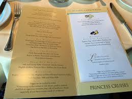 Cruise Review Star Princess Dining And Entertainment TravelUpdate - Dining room menu