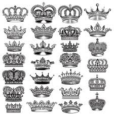 crown designs collection vector premium
