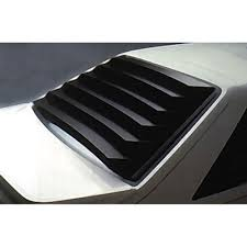 mustang rear window louvers aluminum black hatchback 1979 1993