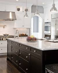white kitchen with black island one color fits most black kitchen cabinets