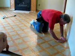 installing sheet vinyl laying vinyl