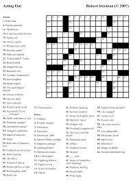 beekeeper crosswords blog archive puzzle 24 u201cacting out u201d