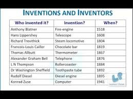 1st grade english comprehension worksheets on inventors and