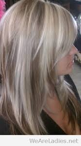 white hair with black lowlights blonde hair with white highlights