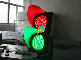 led traffic signal lights new design road safety waterproof pc housing 300mm red green led