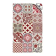 Decorative Vinyl Floor Mats by Buy Beija Flor Eclectic Vinyl Floor Mat Red Amara
