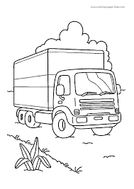 truck color pages coloring pages kids transportation