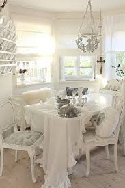 Best Shabby Chic Dining Images On Pinterest Live Shabby - All white dining room