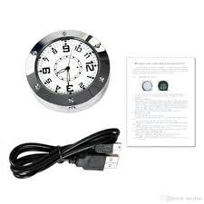 new spy alarm clock camera record motion detection clock hidden