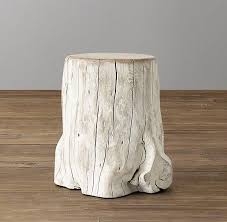 Tree Trunk Table Youati Gold Tree Trunk End Table